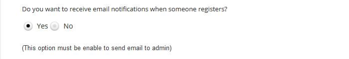 wordpress event admin notification