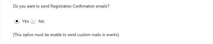 wordpress event emails