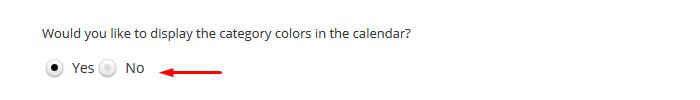 wordpress events calendar colors