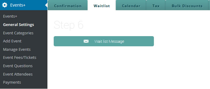 events registration wait list
