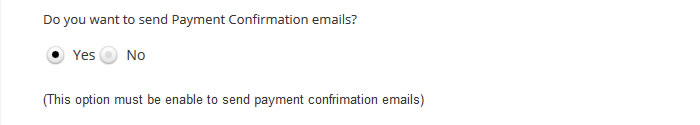 wordpress event payment confirmation
