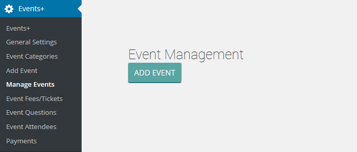wordpress event creation