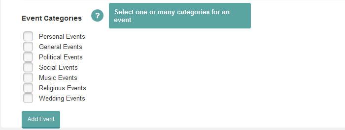 wordpress calendar event options