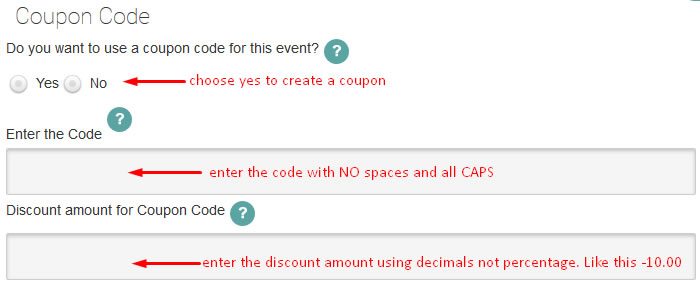 wordpress event coupons