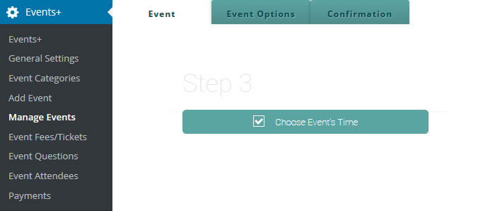 wordpress event date and time