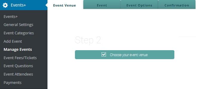 wordpress event venue