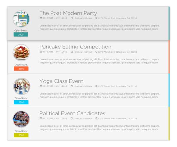wordpress events list
