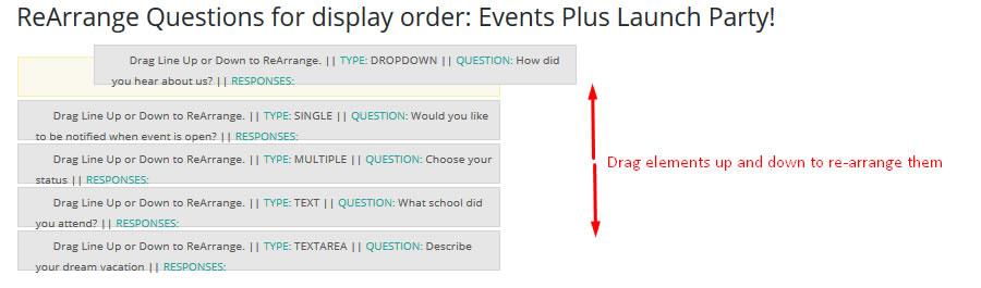 events custom fields
