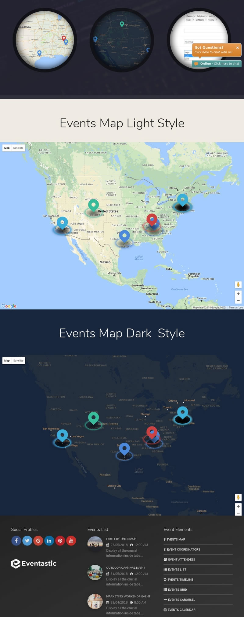 events map theme