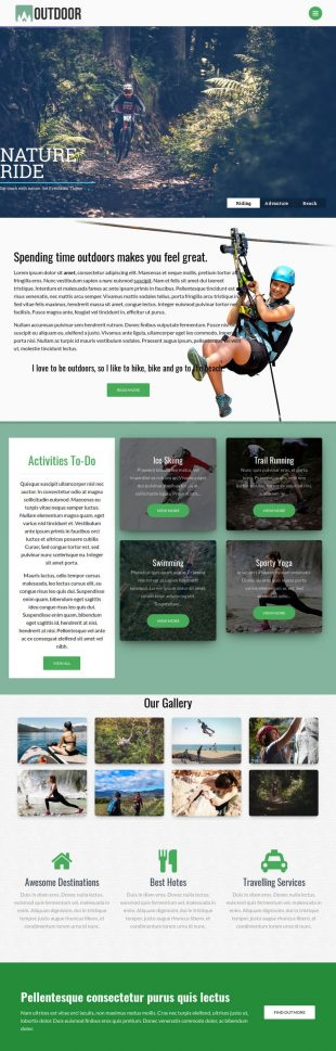 outdoor wordpress theme