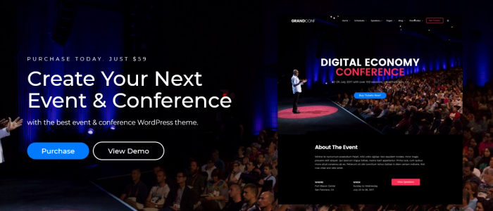 wordpress themes for conference