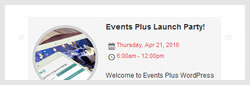 events calendar wordpress