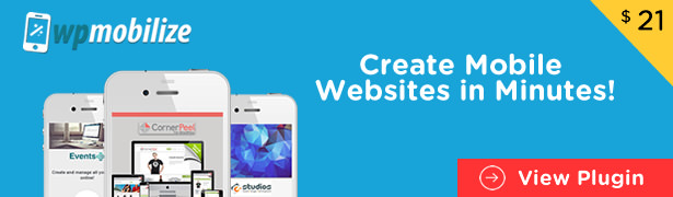 WordPress mobile website builder
