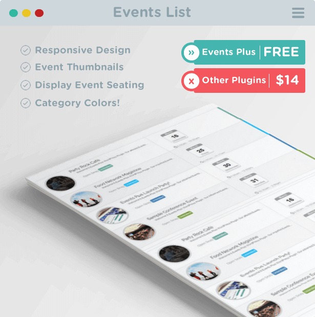 Events List | Events WordPress Plugin