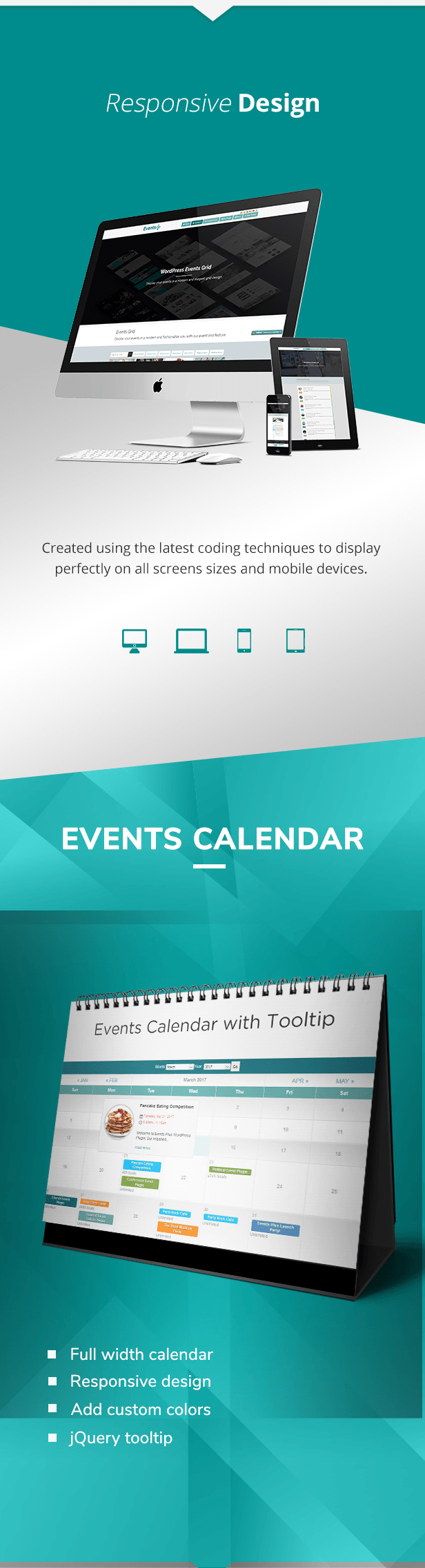 Google Calendar Responsive Design : Events calendar registration booking by elbisnero